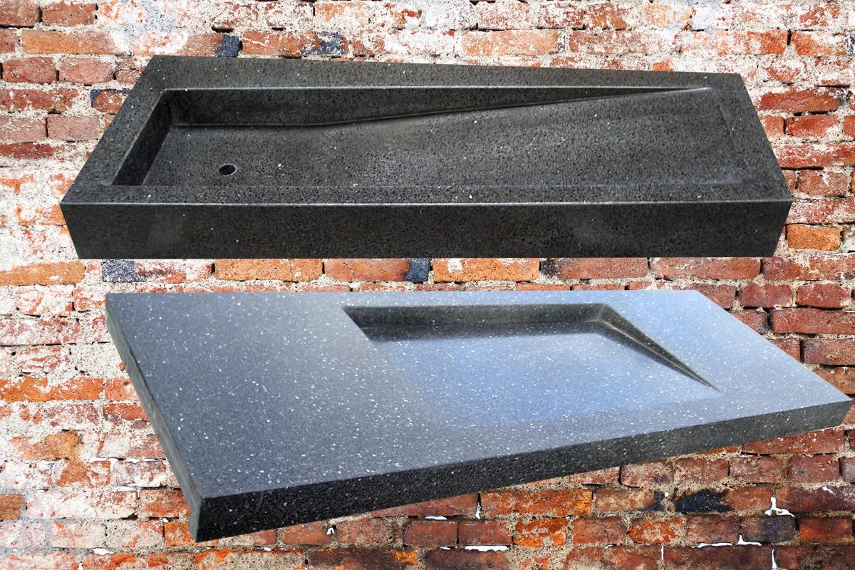 Granieten Wastafel Badkamer : Terrazzo wastafel